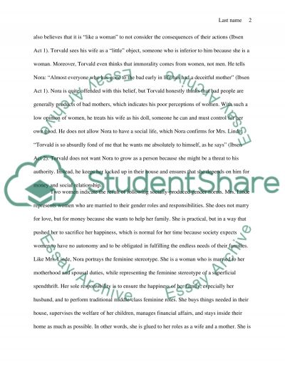 a doll house essay a dolls house essay sample