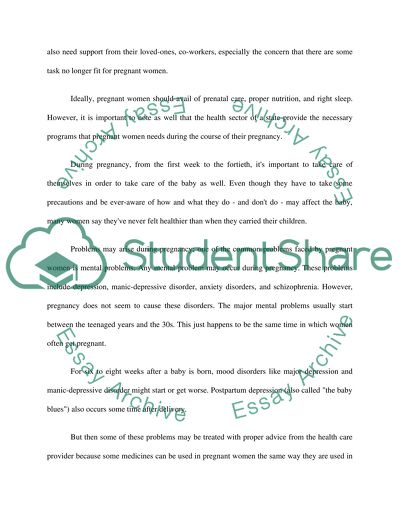 Mental Health Problems During Pregnancy Essay Example  Short English Essays English Essays Mental Health Problems During Pregnancy Essay Example  Reference Essay also Essay About Science And Technology