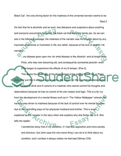 Essays On The Yellow Wallpaper  English Essays also The Yellow Wallpaper Analysis Essay An Analysis Of The Differences Between The Black Cat And The  Essay Samples For High School