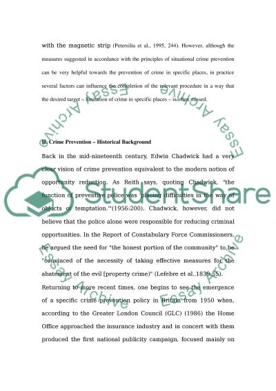 what are the limitations of situational crime prevention essay what are the limitations of situational crime prevention essay example