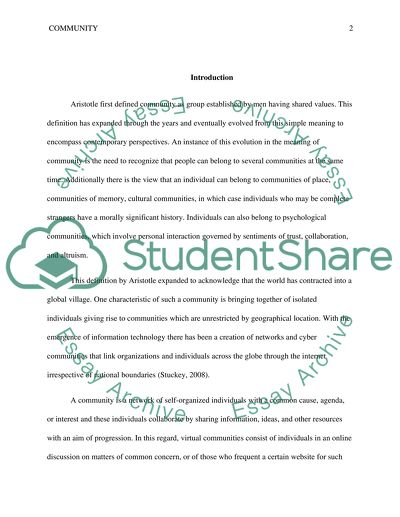 Community Paper - Assignment B