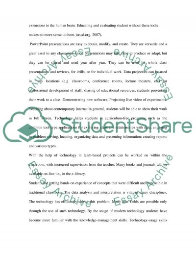 Technology in Classroom essay example