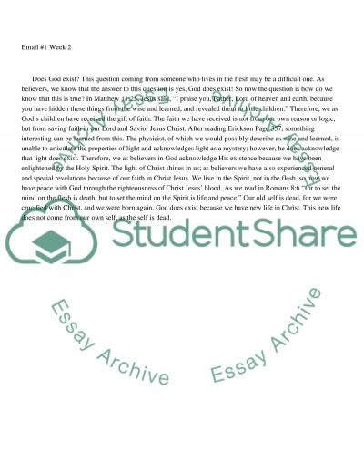 Week 2 email 1 essay example