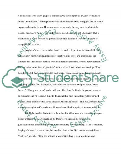 Robert Browning essay example
