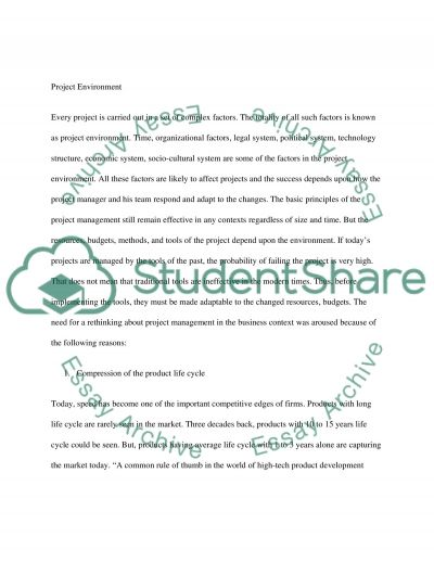 Project Management Master Essay essay example