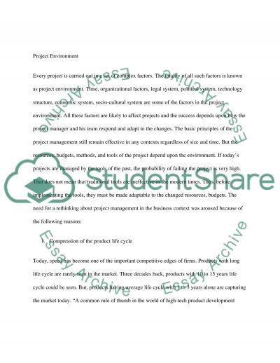 Project Management Master Essay