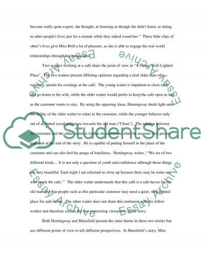 Miss brill essay example