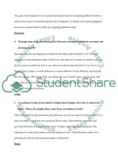 Senior Philosophy Seminar essay example