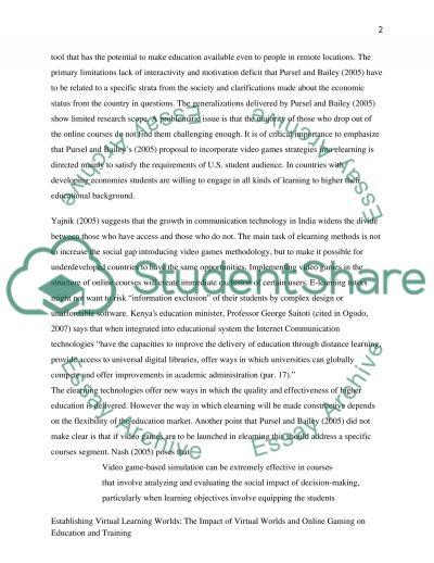 Virtual Learning essay example