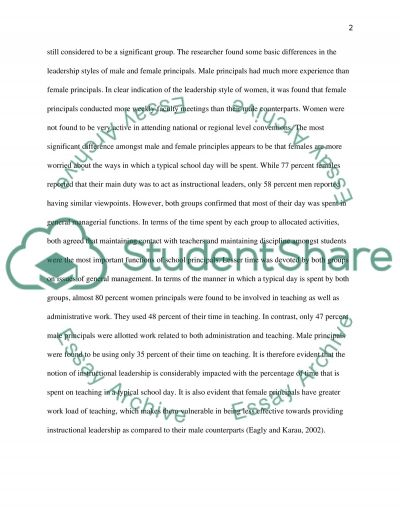 Gender differences in leadership style essay example