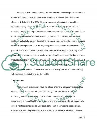 Socio-Political Factors and Influence Mental  Health Essay example