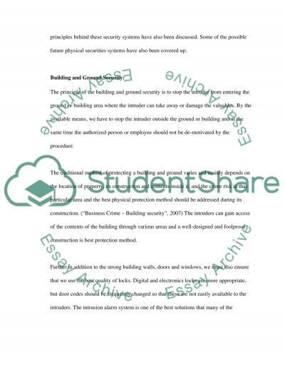 Physical Security Principles essay example