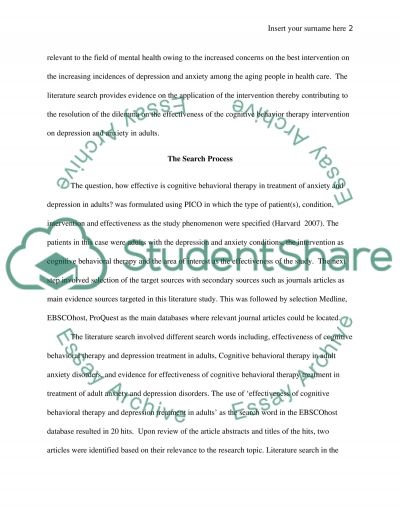 Nursing - Literature Search Essay example
