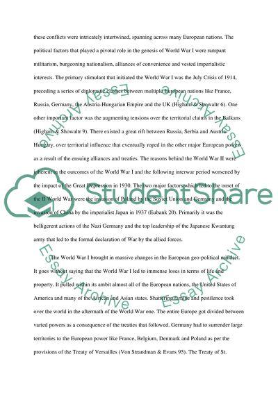 world war i and world war ii essay example  topics and well written  world war i and world war ii
