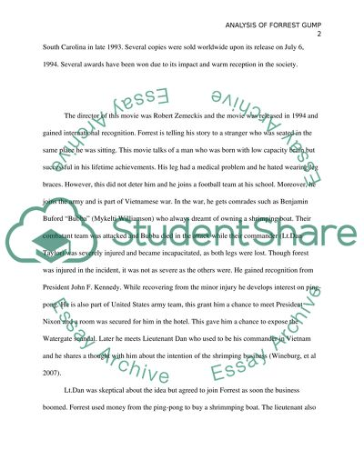 Argumentative Essay Topics High School Analysis Of Forrest Gump  Essay Example Essay Paper Topics also Proposal Argument Essay Examples Analysis Of Forrest Gump Essay Example  Topics And Well Written  In An Essay What Is A Thesis Statement