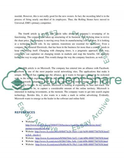 Finance High School Essay essay example