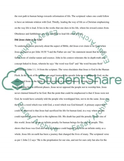 Religion and Theology essay example
