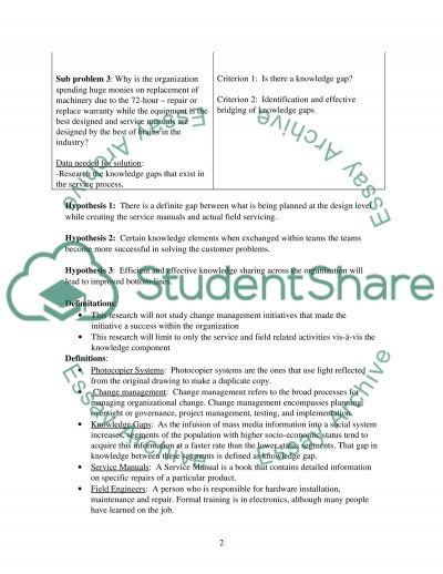 Problem Identification essay example