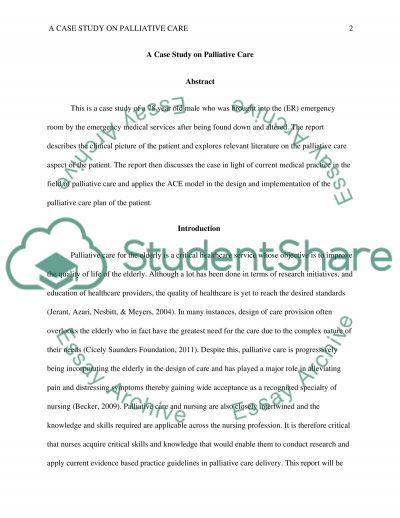 Palliative Care essay example
