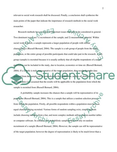 Research Methods Master Essay