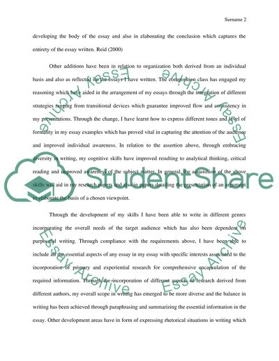 Reflective essay about english composition
