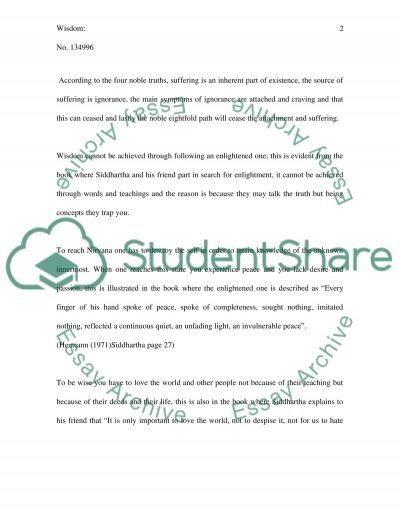Siddartha essay example