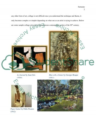 Art Mediums Collage Making, Charcoal Drawing, Acrylic Painting and Water Color Painting