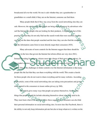 Online Privacy Essay Example  Topics And Well Written Essays    Online Privacy Process Essay Example Paper also Personal Essay Thesis Statement Examples  Spm English Essay