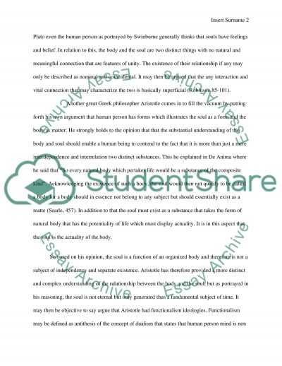 Philosophy of the Mind essay example