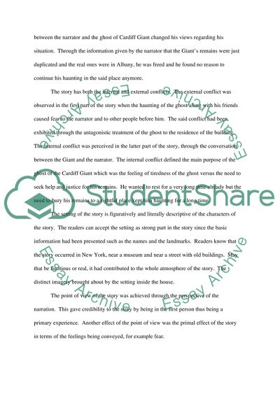 Essay Topics For High School English A Ghost Story By Mark Twain Best English Essay also Apa Sample Essay Paper A Ghost Story By Mark Twain Essay Example  Topics And Well Written  Graduating High School Essay