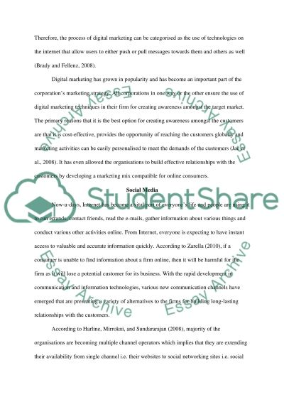 Digital Marketing essay example