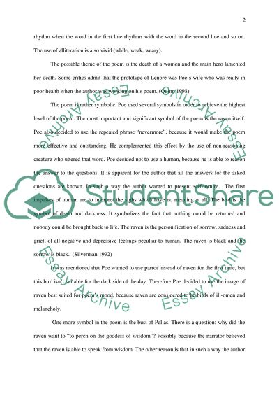 The Raven By Edgar Poe Essay Example Topics And Well