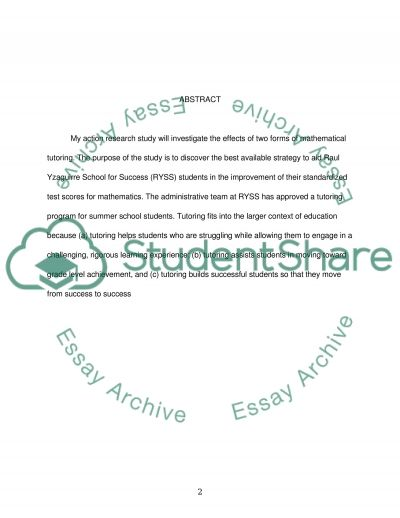The Effect of PeerTutoring and Computer Assisted Tutoring on Standardized Math Scores essay example