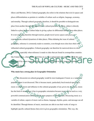 Essay On High School Dropouts The Place Of Popular Culture  Music And The City Computer Science Essay also English Essay Ideas The Place Of Popular Culture  Music And The City Essay Essay For High School Application