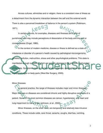 definition of health and illness essay