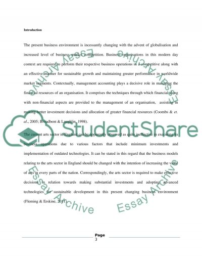 Managment Accounting essay example