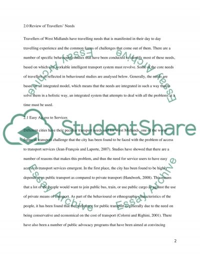 Critical review of ITS (Intelligent Transport Systems) essay example