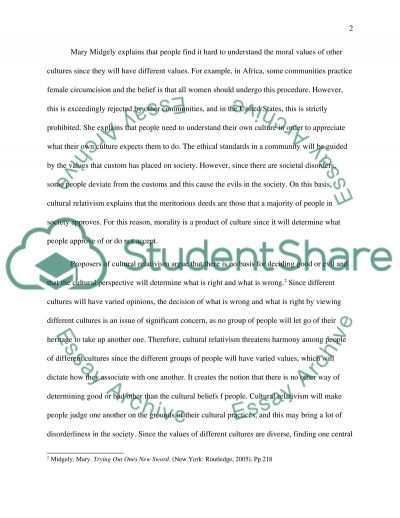 Different Societies have Different Moral Codes and Ethics essay example