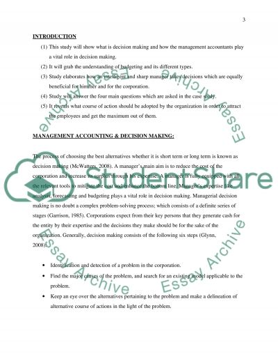 DecisionMaking Essay example