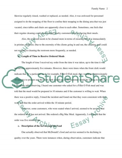 McDonalds Trouble-shooting Report essay example