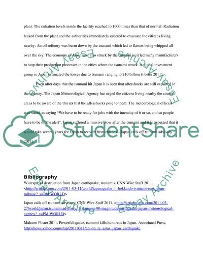 Japan Tsunami Essay Example  Topics And Well Written Essays   Words Japan Tsunami Corruption Essay In English also The Thesis Statement Of An Essay Must Be  Online Certification