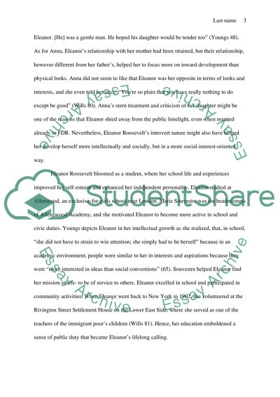 Good Thesis Statement Examples For Essays Eleanor Roosevelt English Essay Websites also Proposal Essay Topic Eleanor Roosevelt Essay Example  Topics And Well Written Essays  Health And Fitness Essays