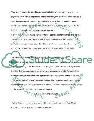 Management Fundamental Case Study
