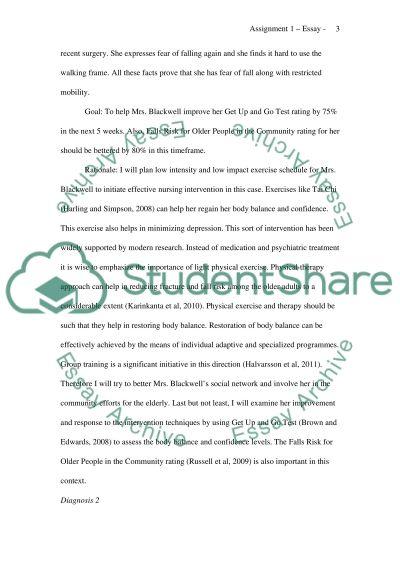 Care Plan A Nursing Assignment essay example