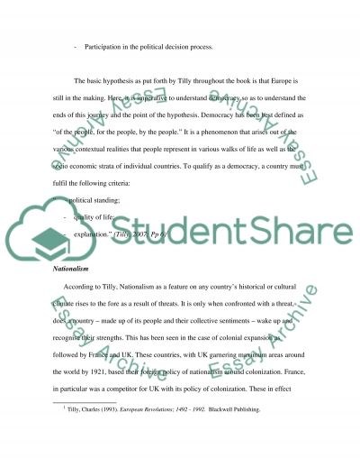 Nation Building essay example