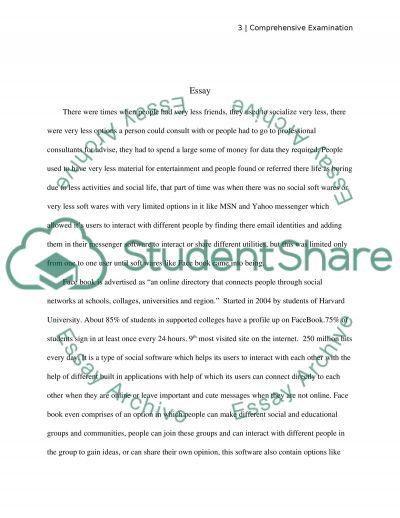 Comprehensive Examination essay example