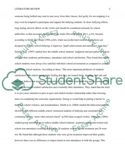 The Effects of Bullying on Middle School Students Attendance essay example