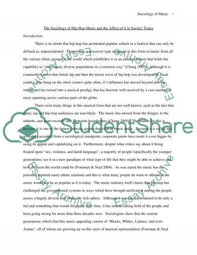 Sociology of Hip-Hop Music essay example
