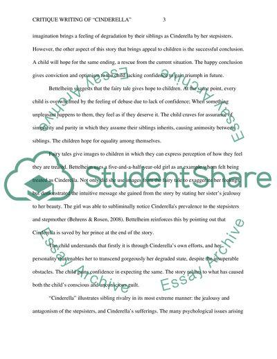 Critique Writing Of Cinderella Essay Example  Topics And Well  Critique Writing Of Cinderella