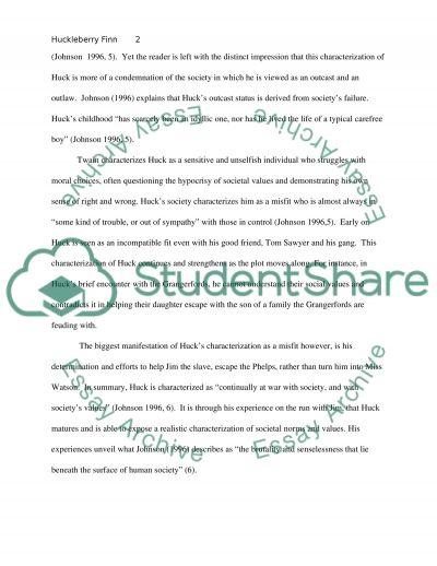 Huckleberry Finn essay example